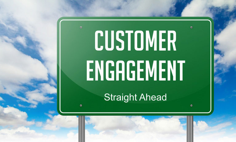Road sign - customer engagement ahead