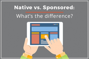 Definition of Native vs Sponsored Content