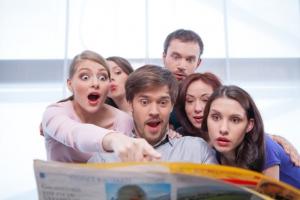 Group Reading Headlines